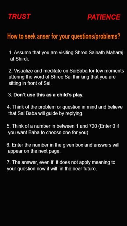 Sai Baba Question & Answers screenshot-0