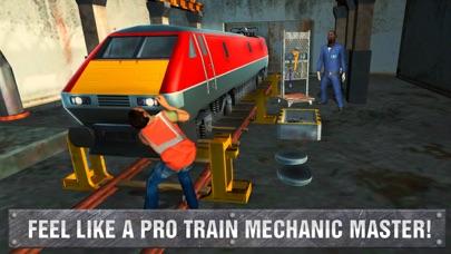 Railway Train Mechanic Workshop Sim screenshot one