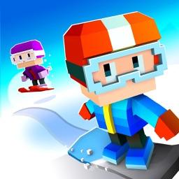 Blocky Snowboarding - Endless Arcade Runner