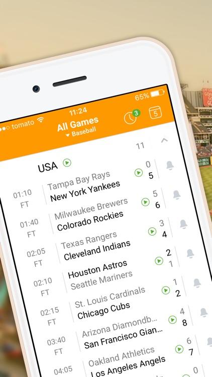 Live-Score app for MLB 2017