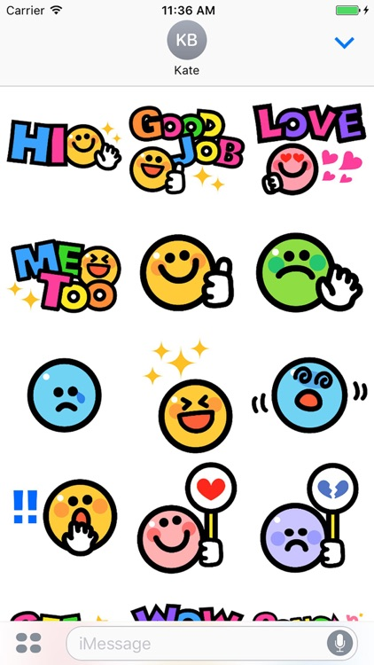 Smiley face Sticker 2