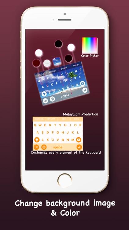 Mazhavil - Manglish keyboard with custom theme