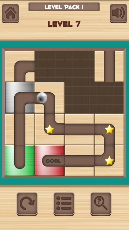 Ball Unblock - Slide the blocks and roll the ball screenshot-3