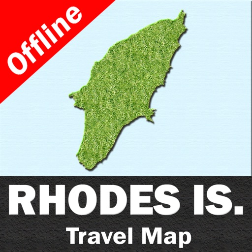 RHODES (GREECE) ISLAND – Travel Map Navigator