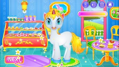 Unicorn Princess Dressup & Cleanup screenshot one