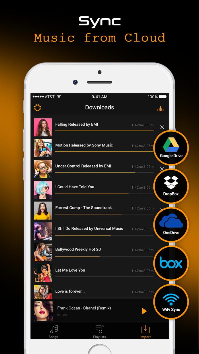 Cloud Music - Music Player & Bass Booster Screenshot