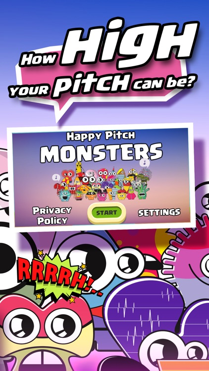 Happy Pitch Monsters