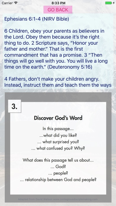 PODS Bible Study app image