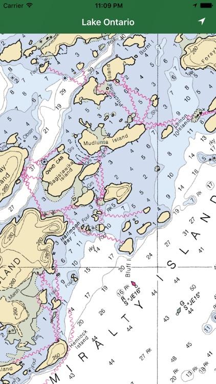 Marine: Lake Ontario offline GPS nautical charts screenshot-3