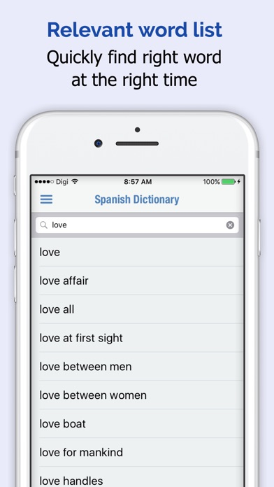 Spanish Dictionary Elite review screenshots