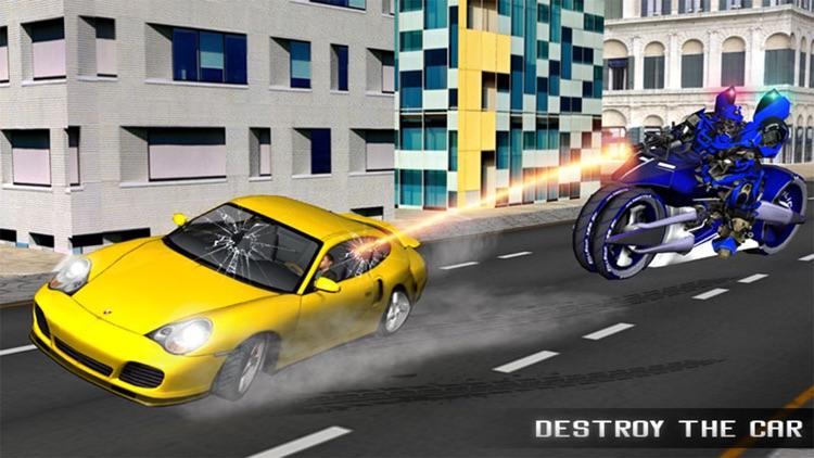 Monster Police Robot Moto Car Chase screenshot-3