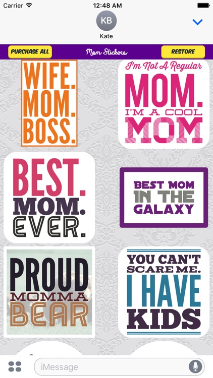 Mom Stickers for iMessage