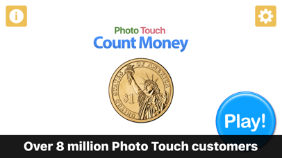 Count Money and Coins - Photo Touch Game screenshot 1