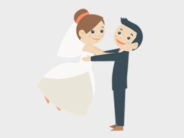 Wedding Couple Sticker