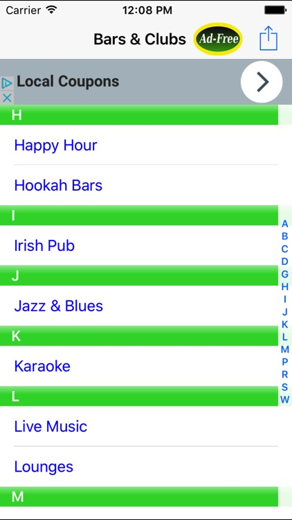 Bar & Happy Hour Finder: Find Your Nearest Bars