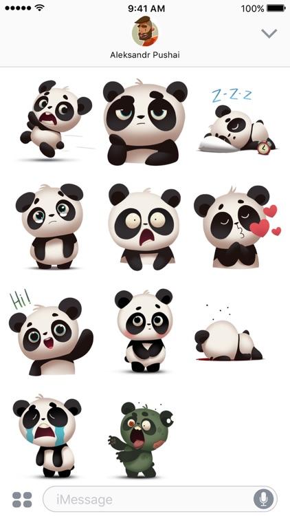 Panda! Stickers & Emoji screenshot-3