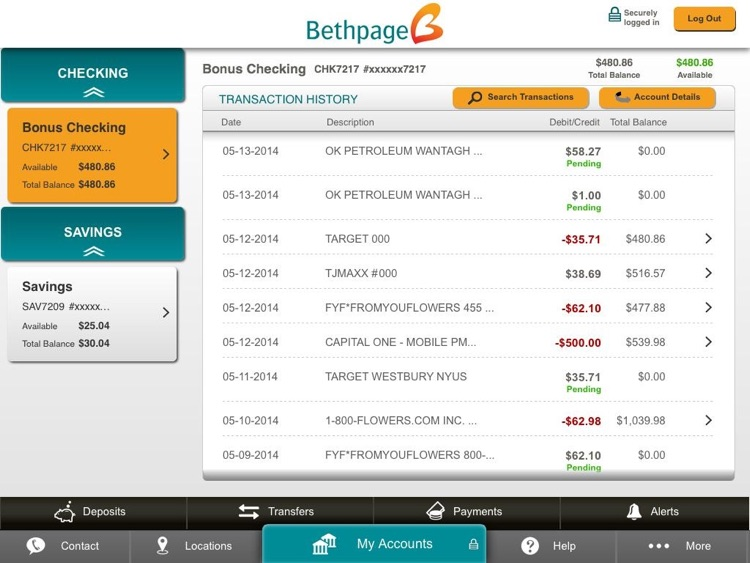 Bethpage Mobile Banking for iPad screenshot-3