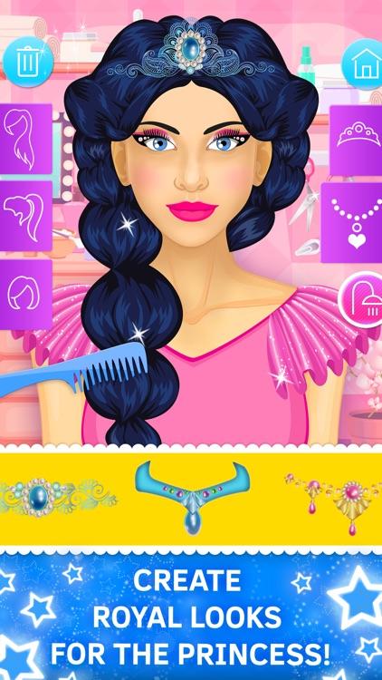 Princess Makeup and Hair Salon. Games for girls screenshot-2