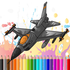 Activities of Air Plane Flight Coloring Book for kidออ