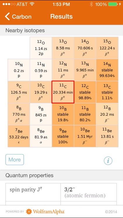 Wolfram Isotopes Reference App screenshot-2