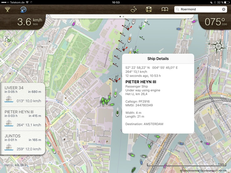 Rivers & Seas boat navigation with AIS