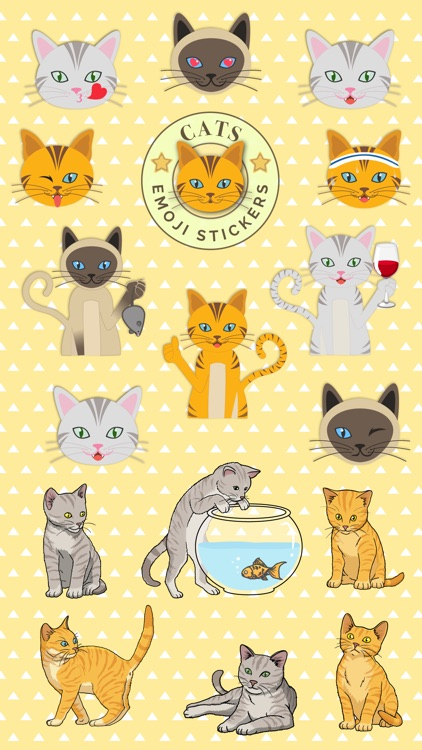 Cats - emoji sticker pack for cat lovers