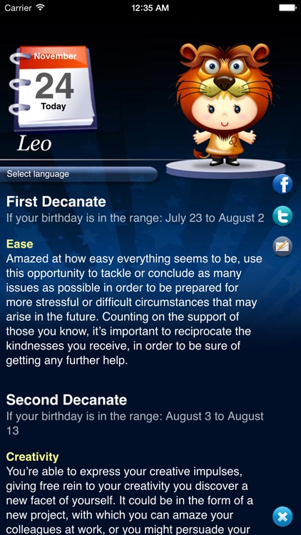 Horoscope HD+ screenshot-2