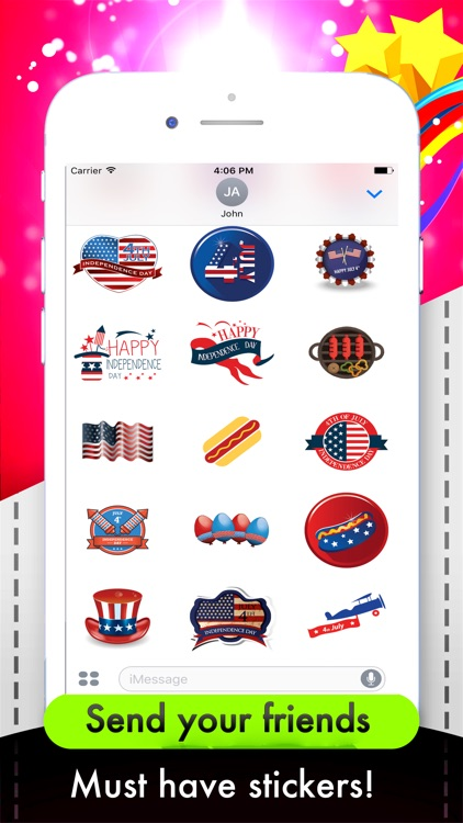 USAmoji - 4th Of July Stickers For Photos