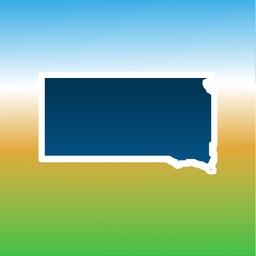 Aqua Map South Dakota SD Lakes - Nautical Charts