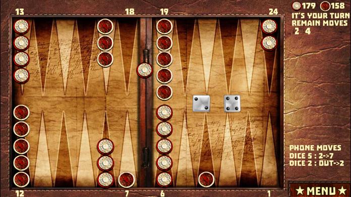 Backgammon with 16 Games Screenshot
