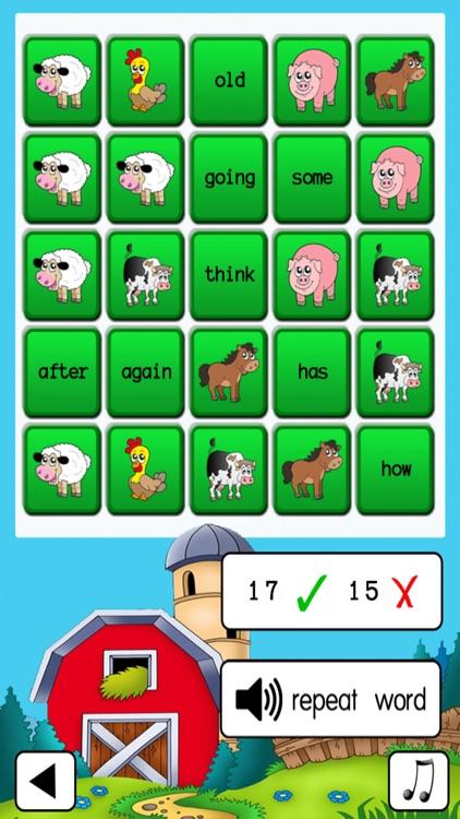 Sight Word Bingo screenshot-3