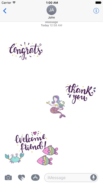 Beautiful Mermaids Under The Sea Stickers Pack screenshot-3