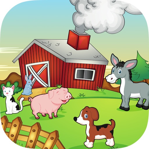 Happy Farm For Kids icon