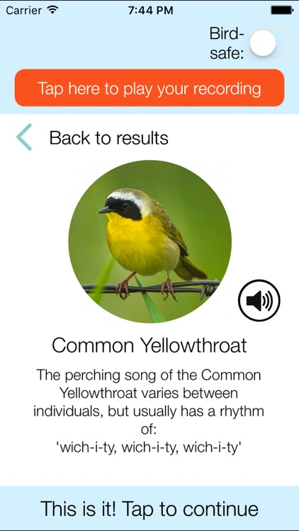 ChirpOMatic USA, Automatic Bird Song Recognition screenshot-3