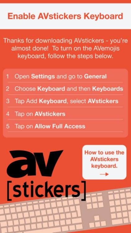 AV-stickers