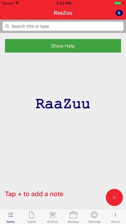 RaaZuu - Structure Your Life