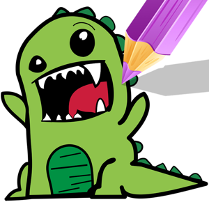Coloring Book Painting Games Dinosaur Cartoon app