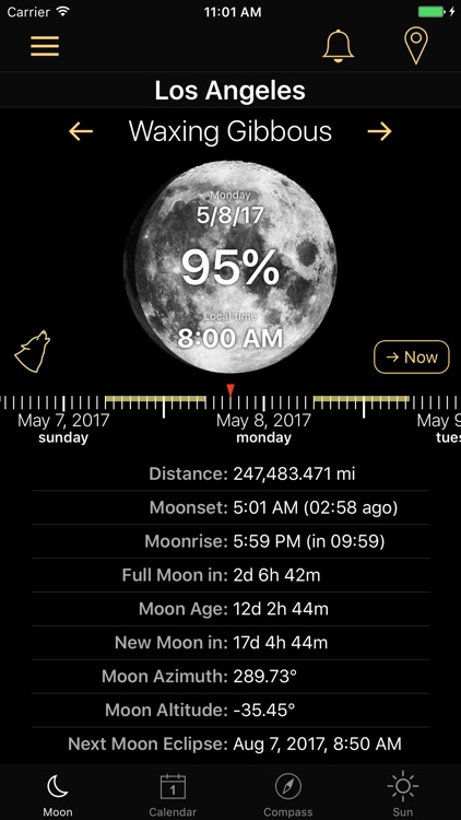 Moon Phases and Lunar Calendar for Full Moon Phase