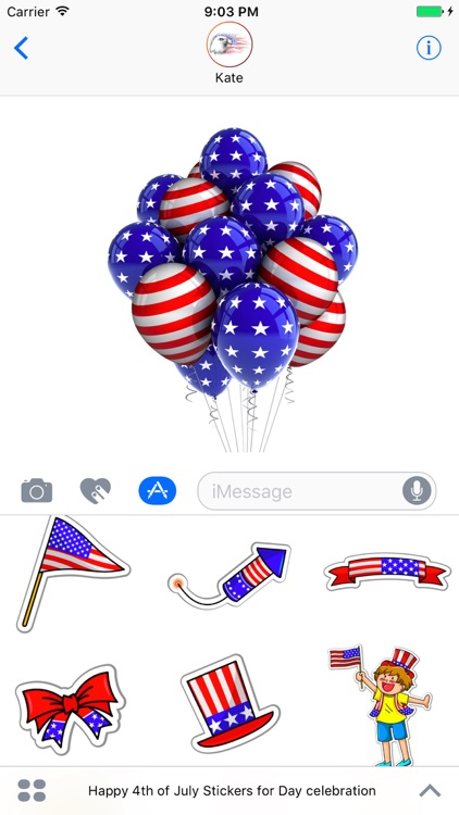 Happy 4th of July Stickers for Day celebration!