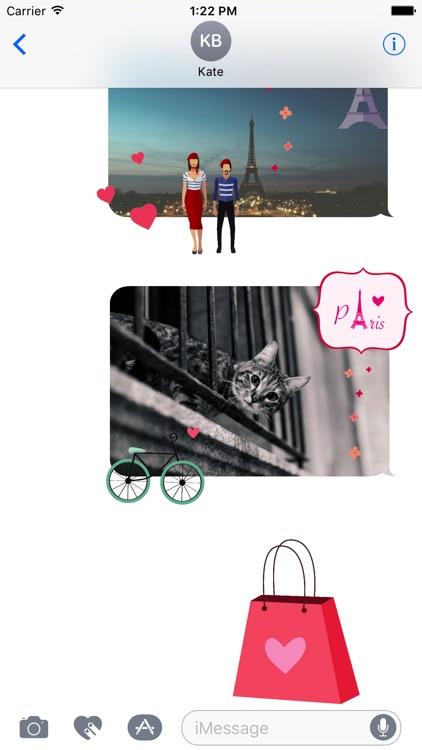 Animated Paris Stickers