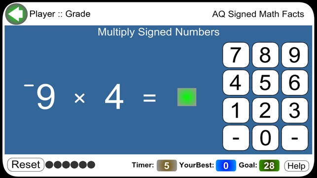 AQ Signed Math Facts on the App Store