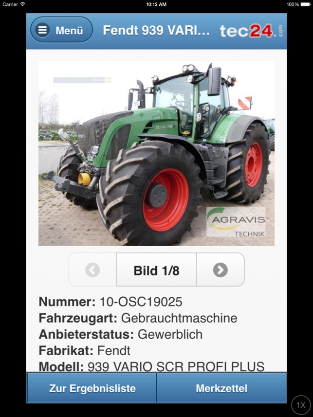 tec24 on the app store  gebrauchte landmaschinen ubers iphone #4