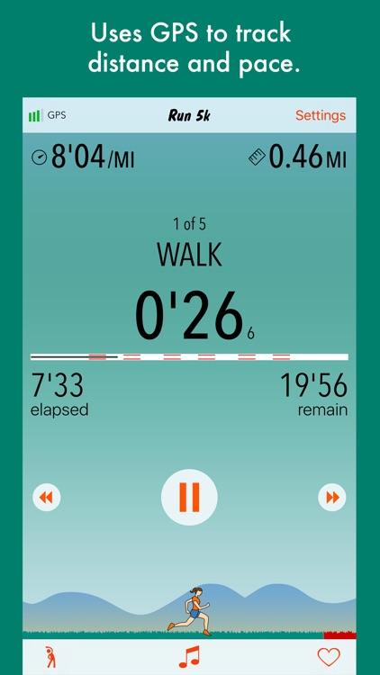Run 5k - interval training program + stretches