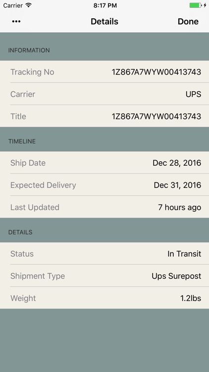 Shipments - Package Tracker Parcel for UPS, Fedex screenshot-4