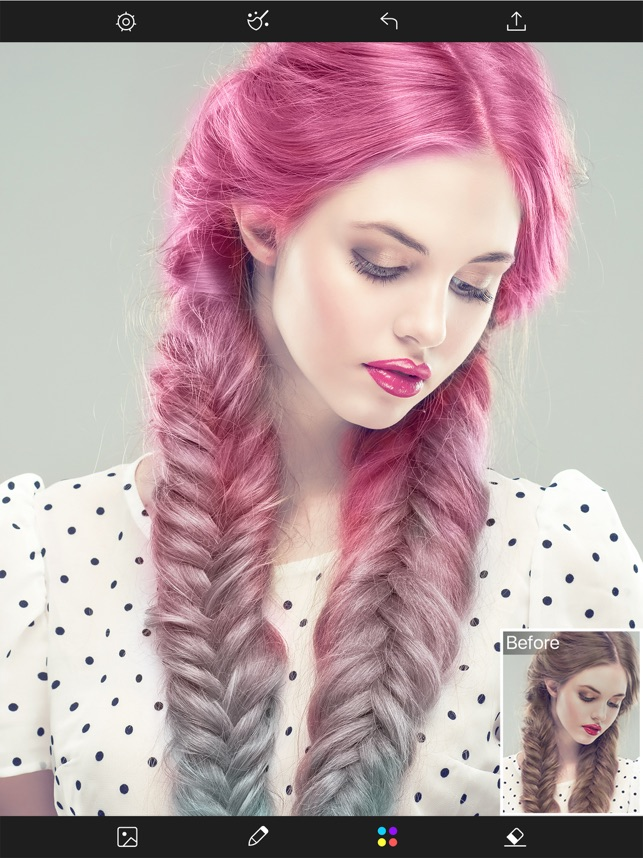 Hair Color Changer Styles Salon Recolor Booth On The App Store - Hair style change photo effect