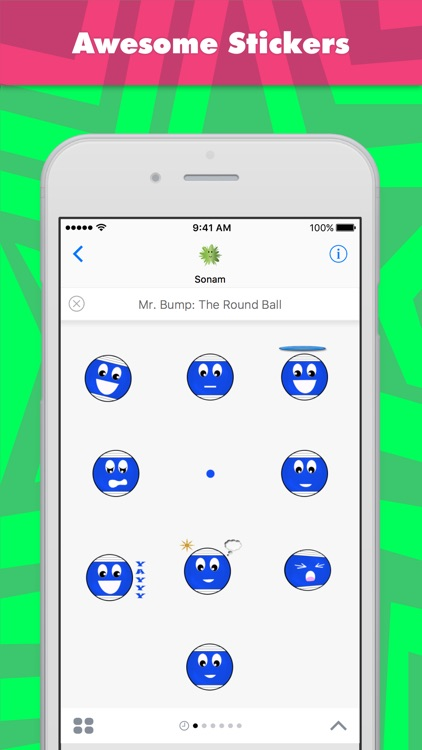 Mr. Bump: The Round Ball stickers by Sonam