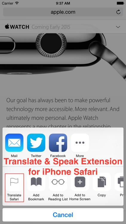 Translate for Safari