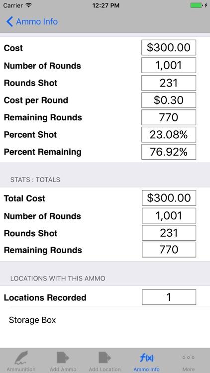Ammunition Inventory & Ammo Catalog Calculator screenshot-3