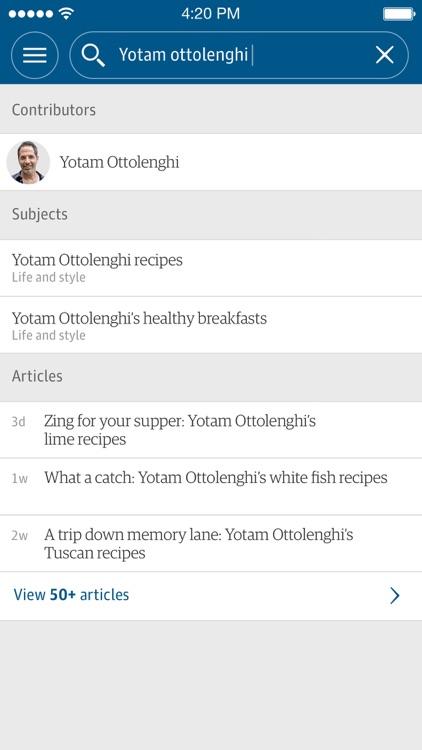 The Guardian app image
