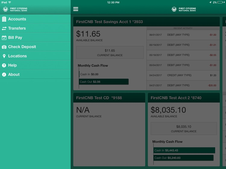 FirstCNB Business for iPad
